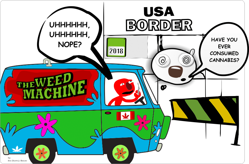 Trouble at the USA Border for Admitting That you Smoke Weed