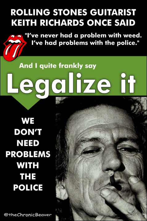 Legalize it Meme with Keith Richards