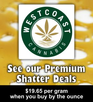 West Coast Cannabis Shatter Menu