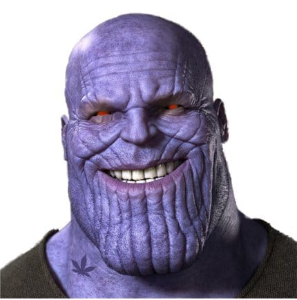 Weed Humor – How Thanos goes down in the Avengers
