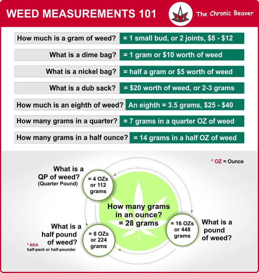 Weed Measurements 101 Infographic