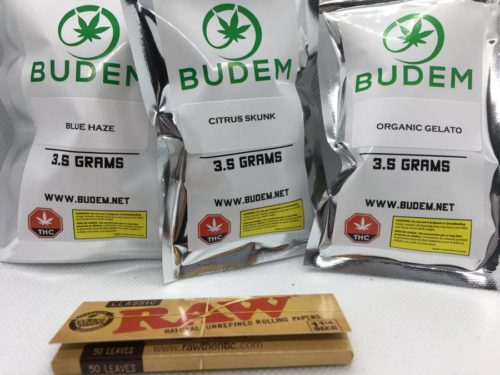budem-dispensary-review-cannabis-flowers-label