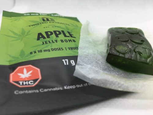 EGM-Twisted-Extracts-Edibles-Review-Apple-Jelly-Bomb-Gummy