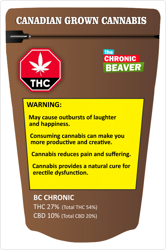 Canadian Cannabis Packaging Mock-up