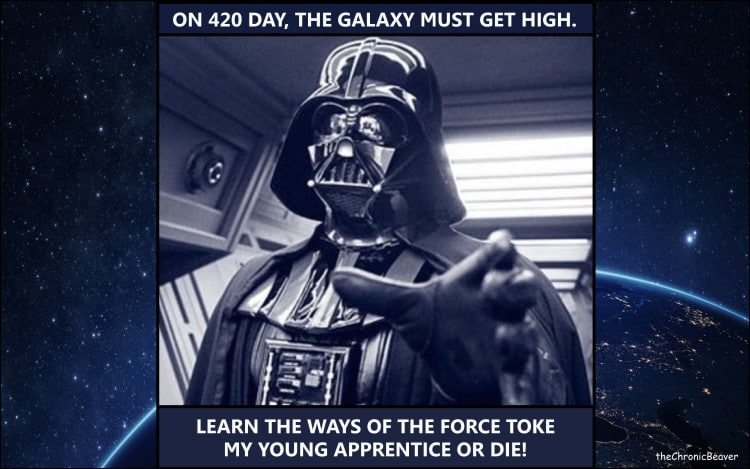 Darth Vador on 420 day