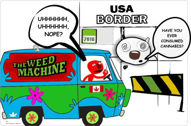 do not admit that you smoke cannabis at the USA border