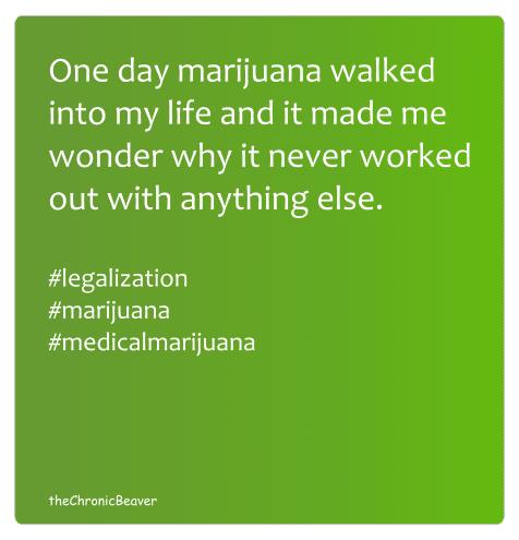 Marijuana walked into my life meme