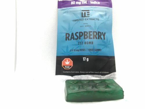 EGM-Twisted-Extracts-Edibles-Review-Raspberry-Bomb-Gummy