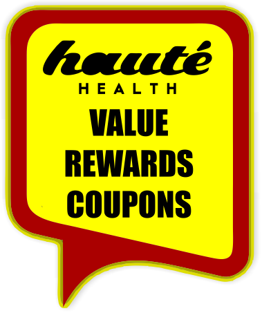 Haute Health icon for rewards, value, and coupon codes